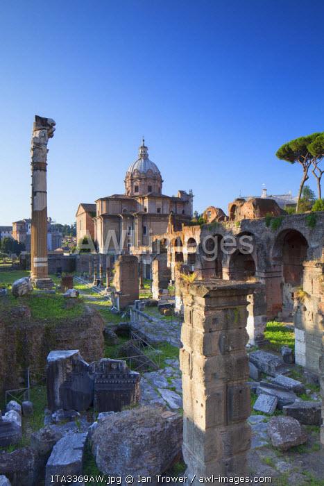 Roman forum (UNESCO World Heritage Site), Rome, Lazio, Italy
