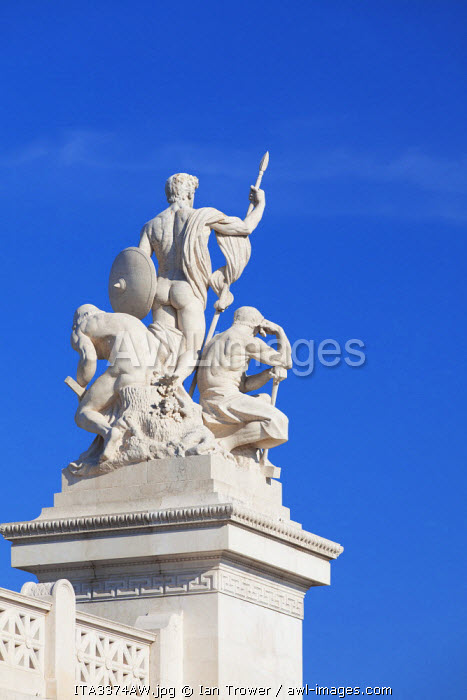 Statue at National Monument to Victor Emmanuel II, Rome, Lazio, Italy