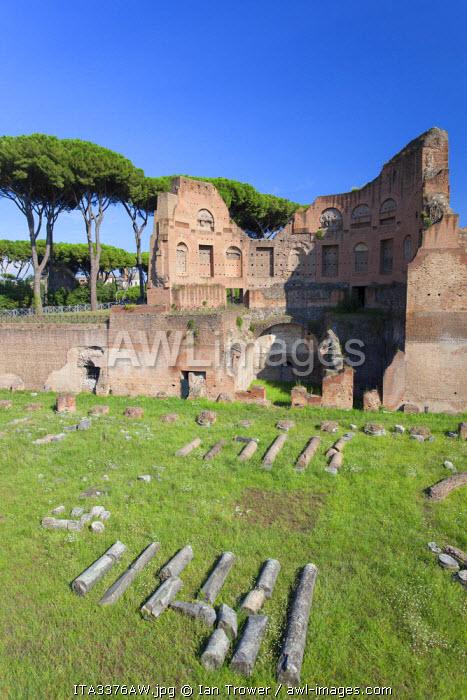 Stadium of Domitian on Palatine Hill (UNESCO World Heritage Site), Rome, Lazio, Italy