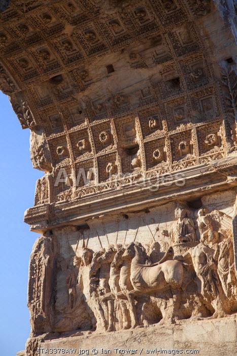 Arch of Titus in Roman forum (UNESCO World Heritage Site), Rome, Lazio, Italy