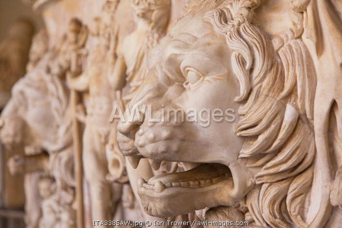 Sarcophagus inside Vatican Museum (UNESCO World Heritage Site), Vatican City, Rome, Italy
