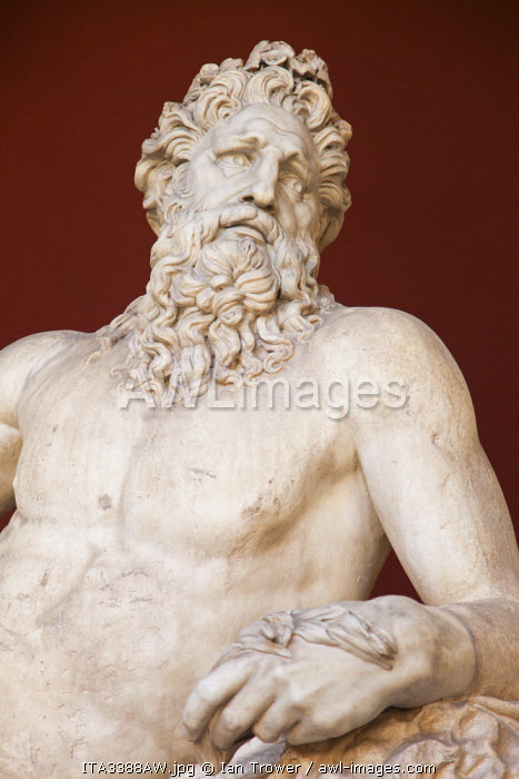 Statue of Arno (River God) inside Vatican Museum (UNESCO World Heritage Site), Vatican City, Rome, Italy