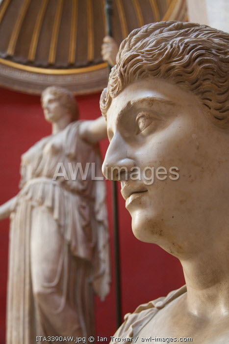 Portrait of Faustina Maggiore inside Vatican Museum (UNESCO World Heritage Site), Vatican City, Rome, Italy