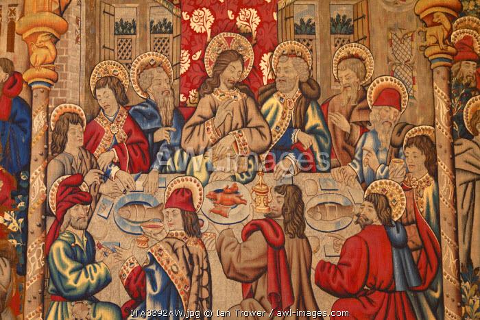 Tapestry inside Vatican Museum (UNESCO World Heritage Site), Vatican City, Rome, Italy