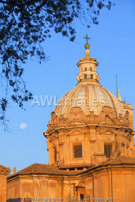 Church of Santi Luca and Martina in Roman forum (UNESCO World Heritage Site), Rome, Lazio, Italy