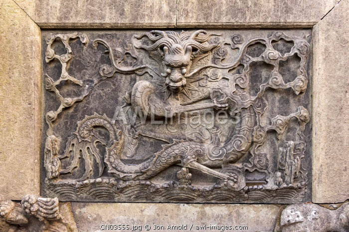 Carved stone dragon, YuYuan Gardens, Old Town, Shanghai, China