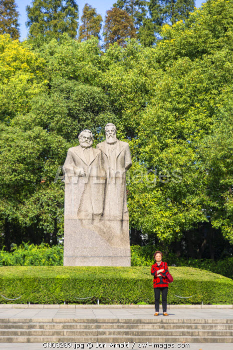 Marx and Engels statue, Fuxing Park, French Concession, Shanghai, China