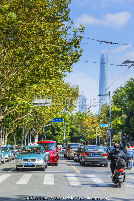 Shanghai Tower from the French Concession, Shanghai, China