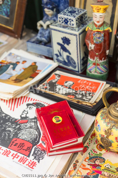 Mao's little red book, Dongtai Road Antiques Market, Shanghai, China