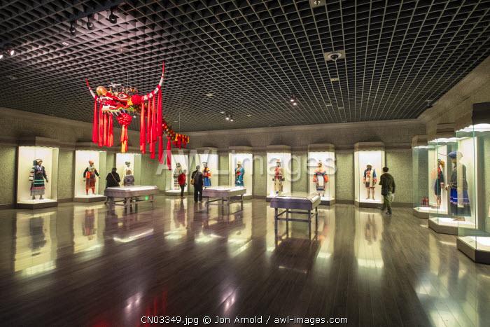 Display of regional traditional dress, Shanghai Museum, People's Square, Shanghai, China
