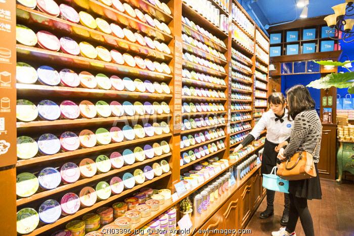 Shop selling tea, Tianzifang, French Concession, Shanghai, China