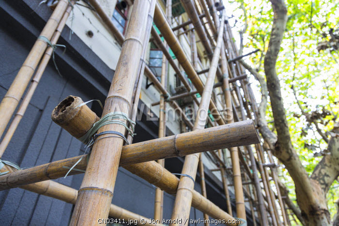 Bamboo scaffolding, French Concession, Shanghai, China