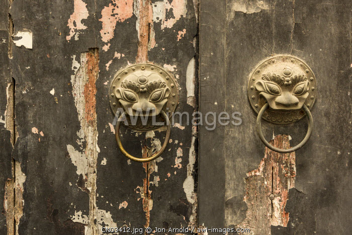 Door knockers, French Concession, Shanghai, China