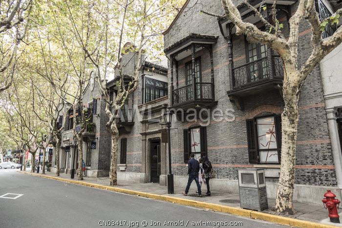 Renovated former Shikumen houses, Xintiandi, Shanghai, China