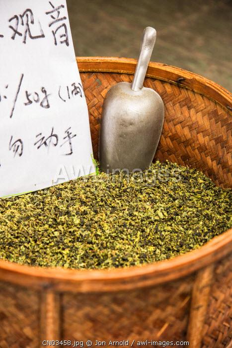 Tea for sale, Qibao, Shanghai, China