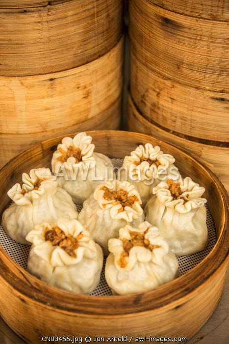 Steamed dumplings (steamed bun or Xiao long bao), Qibao, Shanghai, China
