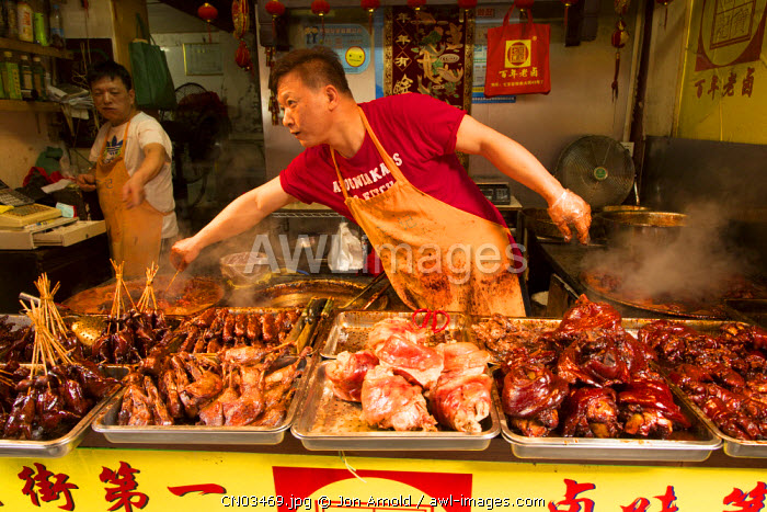 Street food vendor, Qibao, Shanghai, China