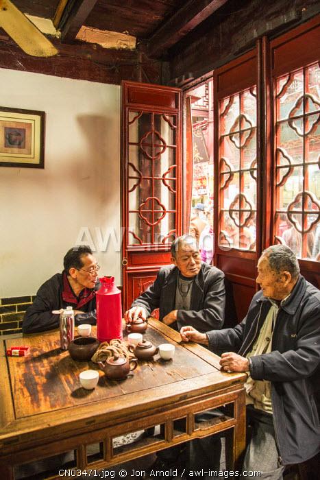 Old tea house in Qibao, Shanghai, China