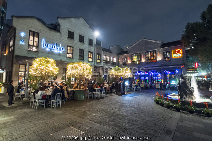 Cafes and restaurants in Xintiandi, Shanghai, China