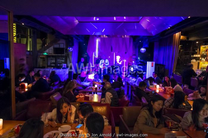 Jazz bar in Xintiandi, Shanghai, China