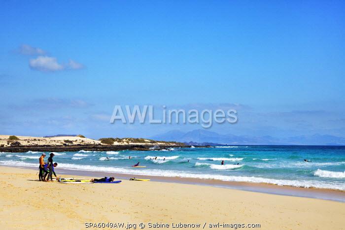 Beach, Playa La Cazuela, El Jable, Corralejo, Fuerteventura, Canary Islands, Spain