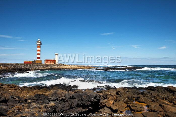 Lighthouse Faro El Toston, El Cotillo, Fuerteventura, Canary Islands, Spain
