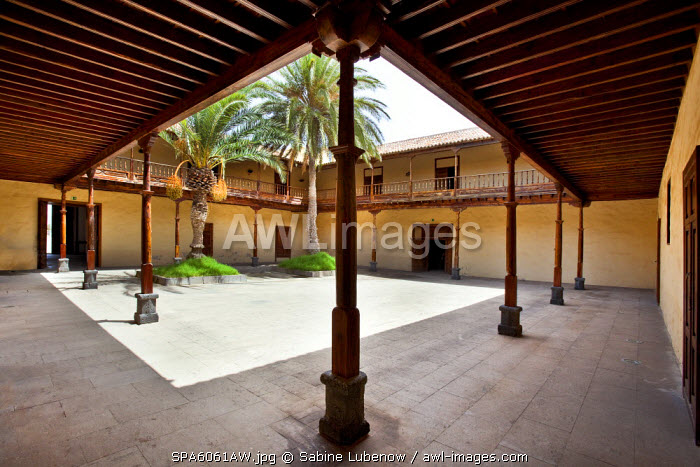 Patio, Casa de los Coroneles, La Oliva, Fuerteventura, Canary Islands, Spain