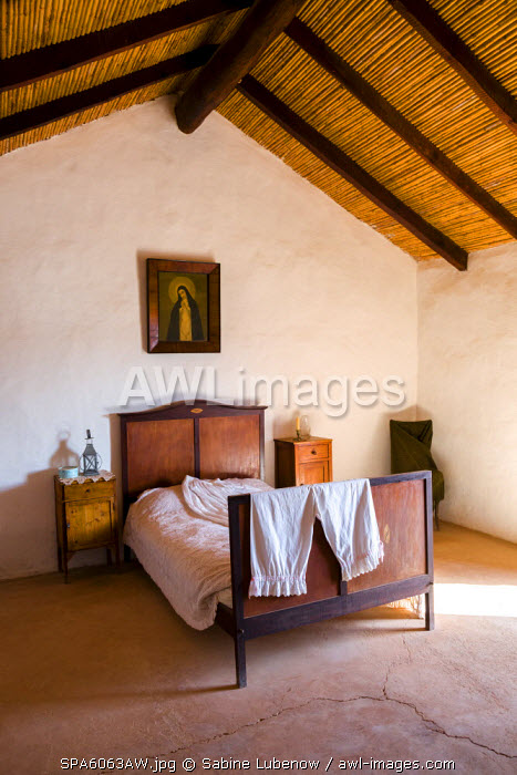 Bedroom, Open air museum, Ecomuseo La Alcogida, Tefia, Fuerteventura, Canary Islands, Spain