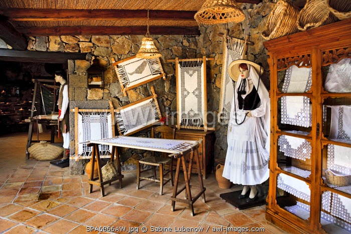 Weaving workshop, Casa Santa Maria, Betancuria, Fuerteventura, Canary Islands, Spain