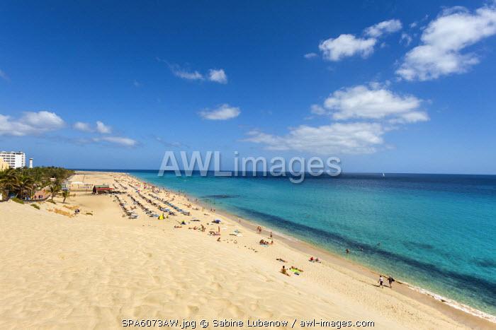 Beach, Playa del Matorral, Morro Jable, Fuerteventura, Canary Islands, Spain