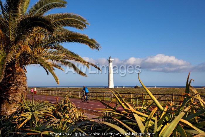 Lighthouse and promenade, Jandia, Fuerteventura, Canary Islands, Spain