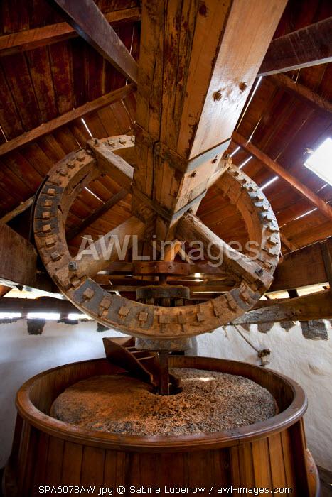 Wind mill, Pueblo Majarero, Museo Molino, Antigua, Fuerteventura, Canary Islands, Spain
