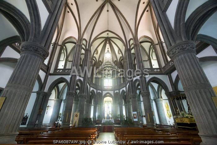 Interior, Cathedral, Arucas, Gran Canaria, Canary Islands, Spain