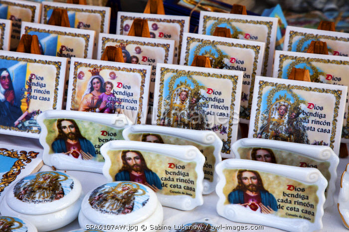 Pictures of saints, Teror, Gran Canaria, Canary Islands, Spain