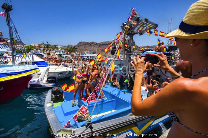 Festival, Fiesta del Carmen, Puerto de Mogan, Gran Canaria, Canary Islands, Spain