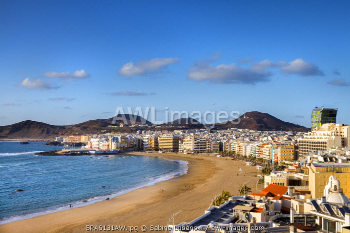 Beach, Playa de Las Canteras, Las Palmas, Gran Canaria, Canary Islands, Spain