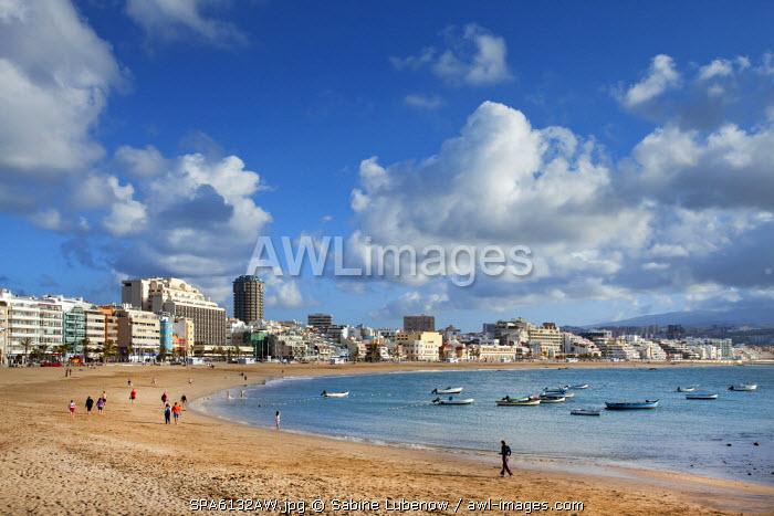 Beach, Playa de las Canteras auf Las Palmas, Gran Canaria, Canary Islands, Spain