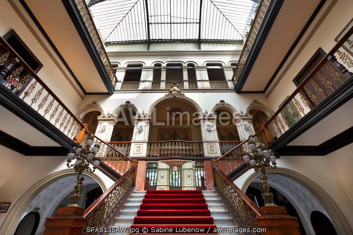 Interior, Gabinete Literario, Altstadt, Las Palmas, Gran Canaria, Canary Islands, Spain