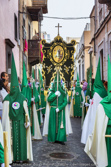 Easter procession, old town, Vegueta, Las Palmas, Gran Canaria, Canary Islands, Spain