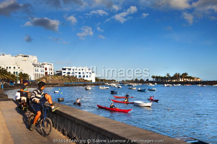 Promenade, Charco de San Gines, Arrecife, Lanzarote, Canary Islands, Spain