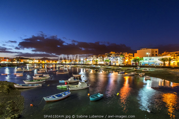 Charco de San Gines at dusk, Arrecife, Lanzarote, Canary Islands, Spain