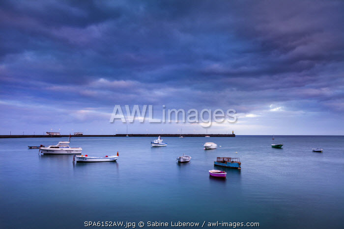 Boats on th sea, Arrecife, Lanzarote, Canary Islands, Spain