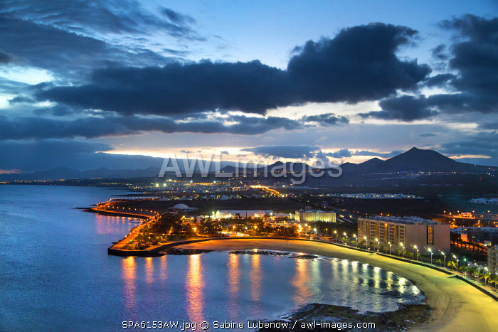View from Grand Hotel, Arrecife, Lanzarote, Canary Islands, Spain