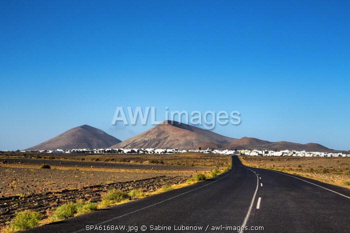 View towards San Bartolome and Monte Guatisea, Lanzarote, Canary Islands, Spain
