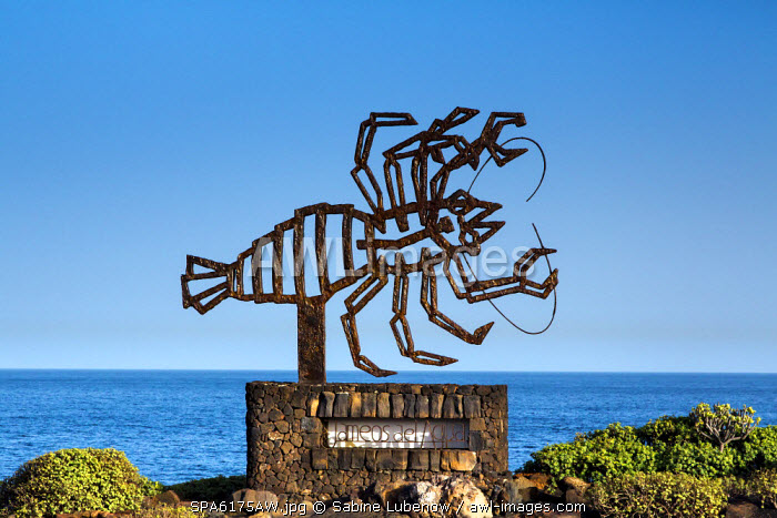 Logo, Jameos del Aqua, Cesar Manrique, Lanzarote, Canary Islands, Spain