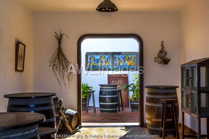 Restaurant El Volcan de la Corona, Ye, Risco de Famara, Lanzarote, Canary Islands, Spain