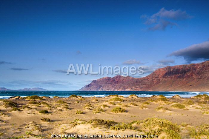Beach, Playa de Famara, Lanzarote, Canary Islands, Spain