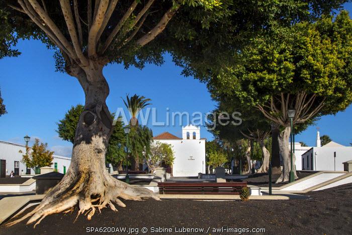 Church, Yaiza, Lanzarote, Canary Islands, Spain