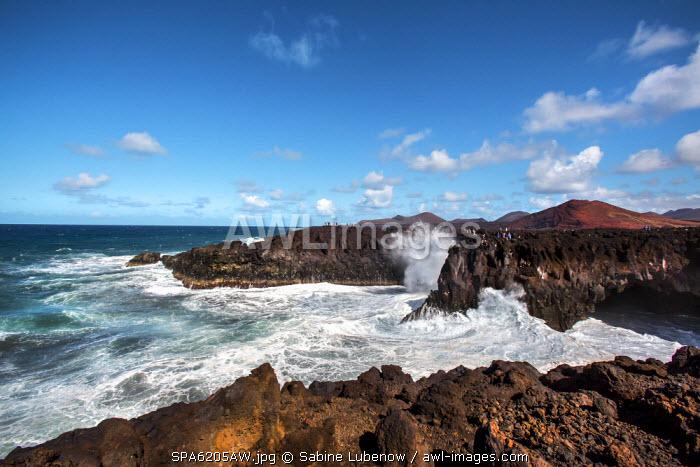 Cliffs, Los Hervideros, Lanzarote, Canary Islands, Spain