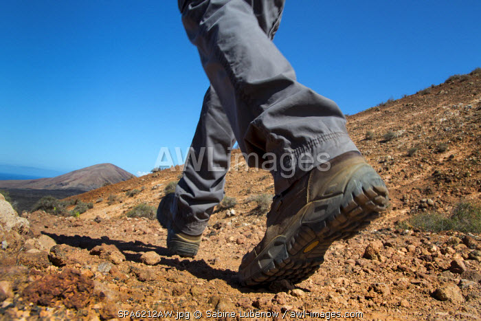 Hiker, Lanzarote, Canary Islands, Spain